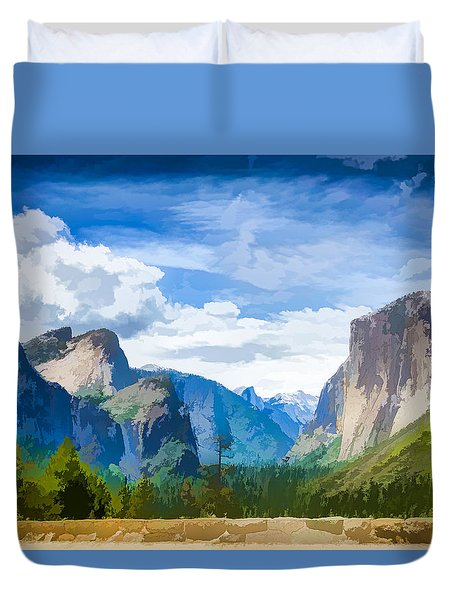 Beautiful Yosemite National Park Duvet Cover by Lanjee Chee