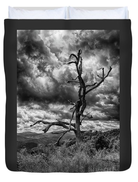 Beautifully Dead In Black And White Duvet Cover