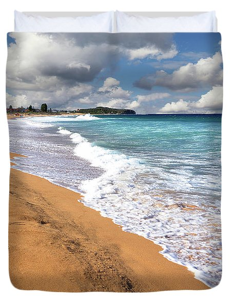 Beauty And The Beach By Kaye Menner Duvet Cover