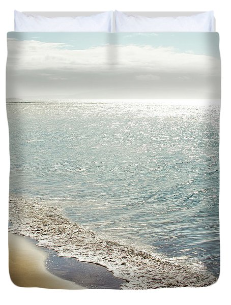 Duvet Cover featuring the photograph Beauty And The Beach by Sharon Mau