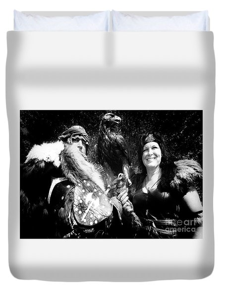 Beauty And The Beasts Duvet Cover by Bob Christopher