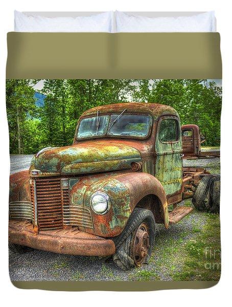 Beauty And The Best 1947 International Harvester Kb 5 Truck Duvet Cover