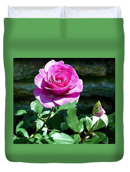 Beauty And The Bud Duvet Cover by Will Borden