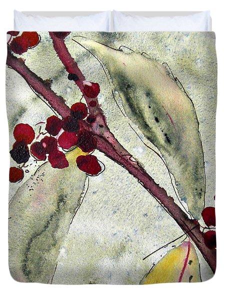 Beauty Berry Branch Duvet Cover