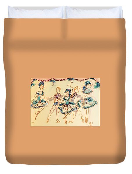 Beauty In Blue Ballet  Duvet Cover by Judith Desrosiers