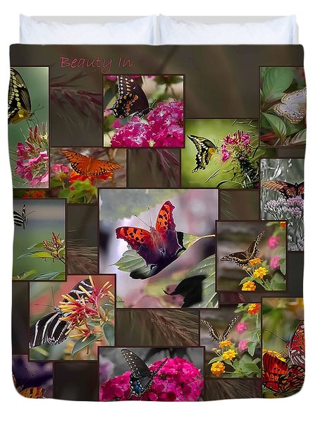 Beauty In Butterflies Duvet Cover