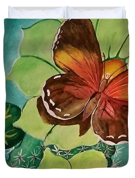 Duvet Cover featuring the painting Beauty In Butterflies by Joetta Beauford
