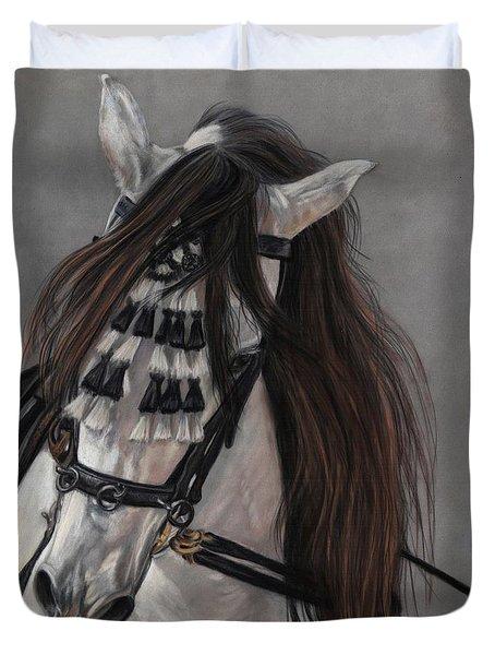Beauty In Hand Duvet Cover by Sheri Gordon
