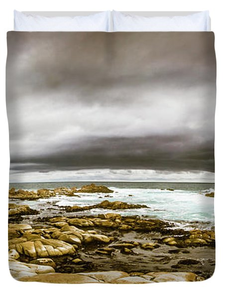 Beauty In Oceanic Drama Duvet Cover