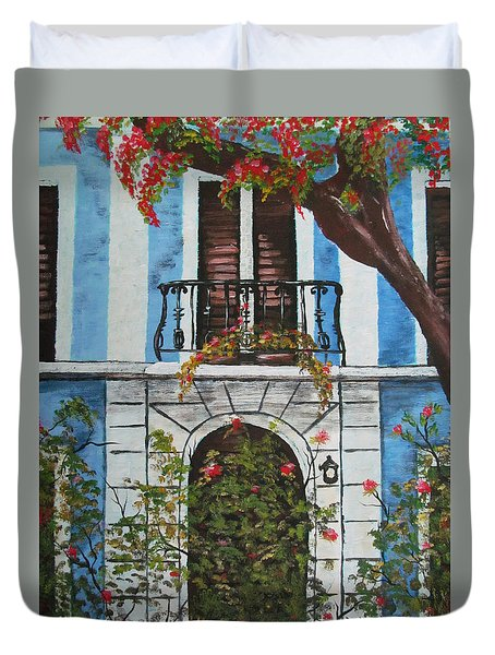 Beauty In Old San Juan Duvet Cover