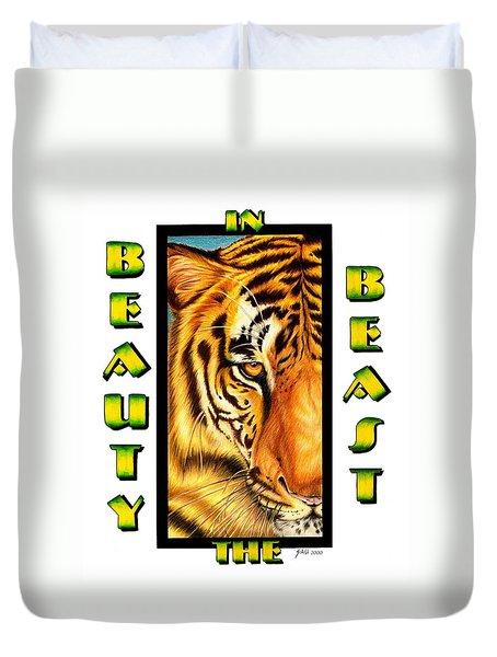 Beauty In The Beast Duvet Cover
