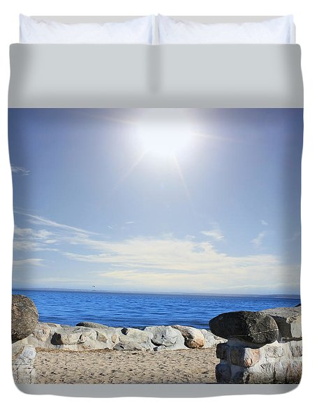 Beauty In The Distance Duvet Cover by Judy Palkimas