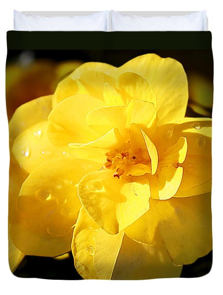 Beauty In Yellow Duvet Cover by Milena Ilieva
