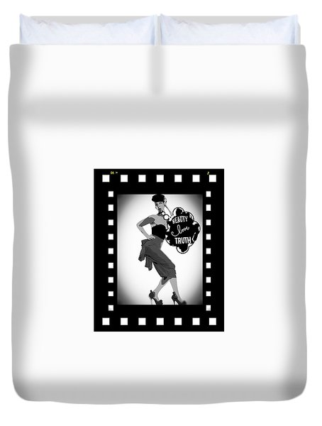 Duvet Cover featuring the photograph Beauty Love Truth by Lisa Piper