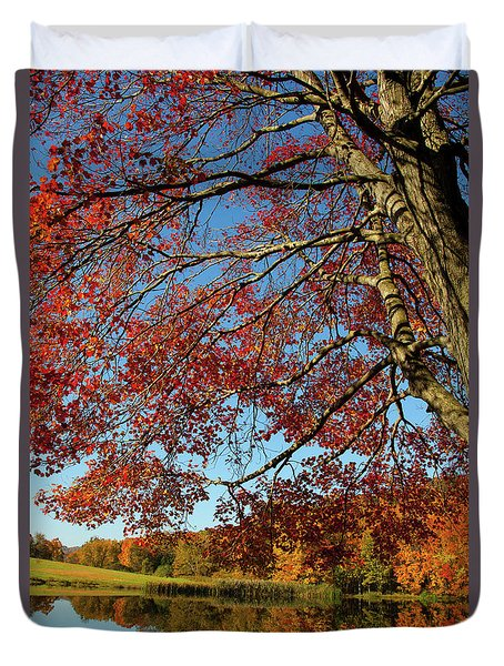 Duvet Cover featuring the photograph Beauty Of Fall by Karol Livote