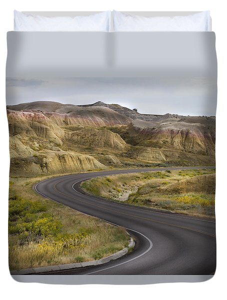 Duvet Cover featuring the photograph Beauty Of The Badlands South Dakota by John Hix