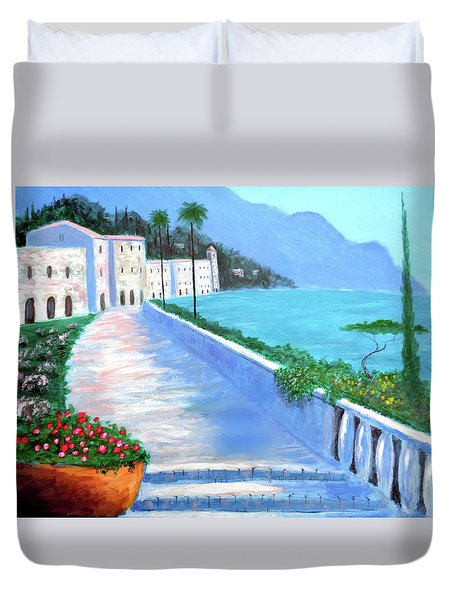 Beauty Of The Riviera Duvet Cover