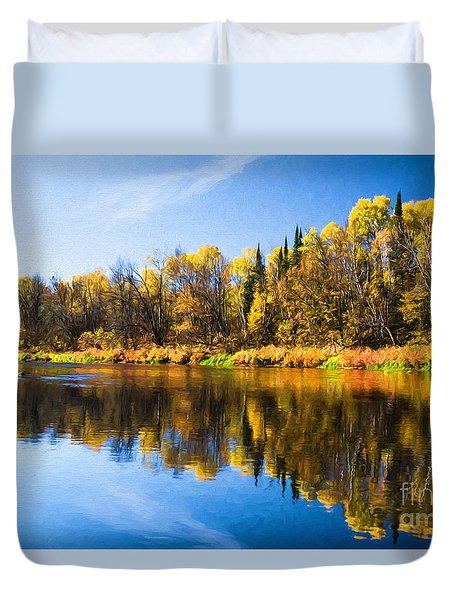 Beauty On The Big Fork Duvet Cover