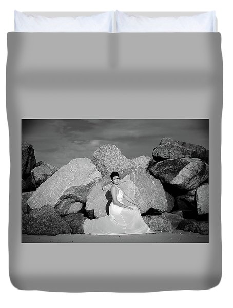 Beauty On The Rocks Duvet Cover