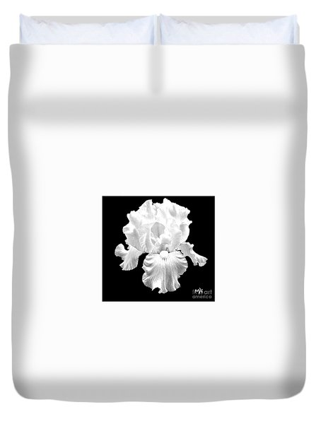 Beauty Queen In Black And White Duvet Cover