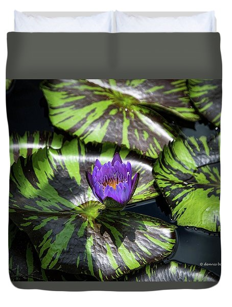 Beauty Rises To The Top Duvet Cover by Dennis Baswell