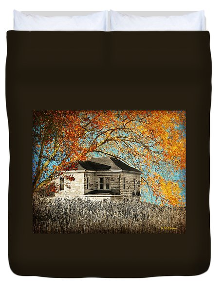 Beauty Surrounds Deserted Home Duvet Cover by Kathy M Krause