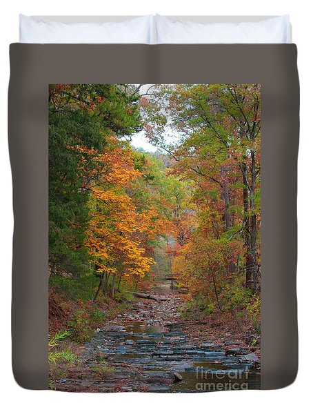 Duvet Cover featuring the photograph Beaver Creek Bridge by Jerry Bunger