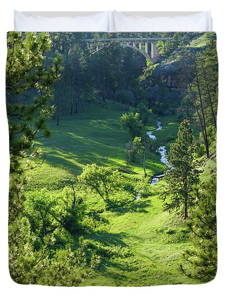 Duvet Cover featuring the photograph Beaver Creek In The Spring by Bill Gabbert