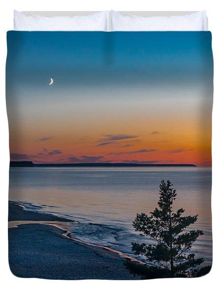 Beaver Creek Sunset Duvet Cover