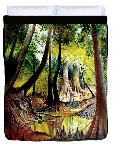 Beaver Dam On Village Creek Duvet Cover