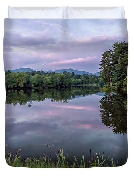 Beaver Lake Reflections Duvet Cover