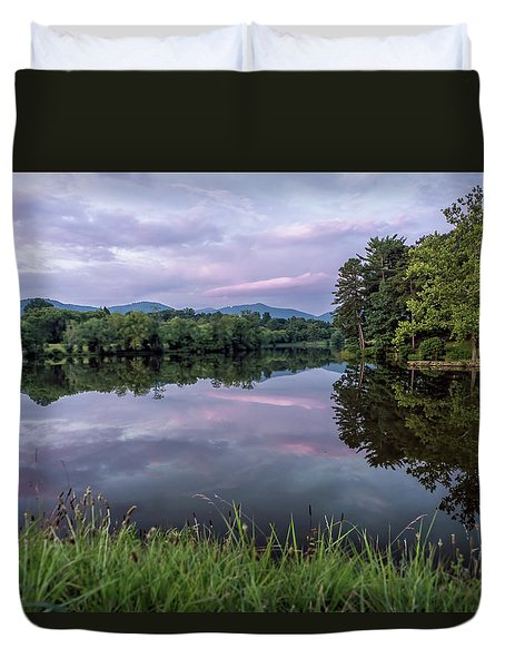Beaver Lake Reflections Duvet Cover