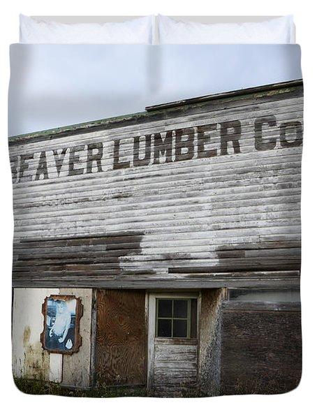Beaver Lumber Company Ltd Robsart Duvet Cover by Bob Christopher