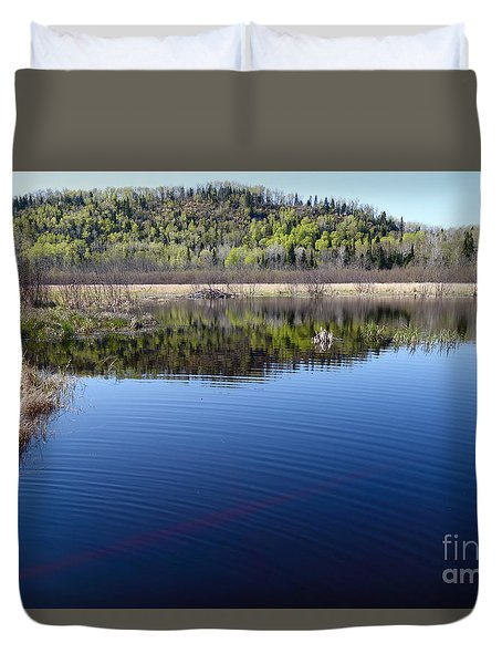 Duvet Cover featuring the photograph Beaver Pond Beauty by Sandra Updyke