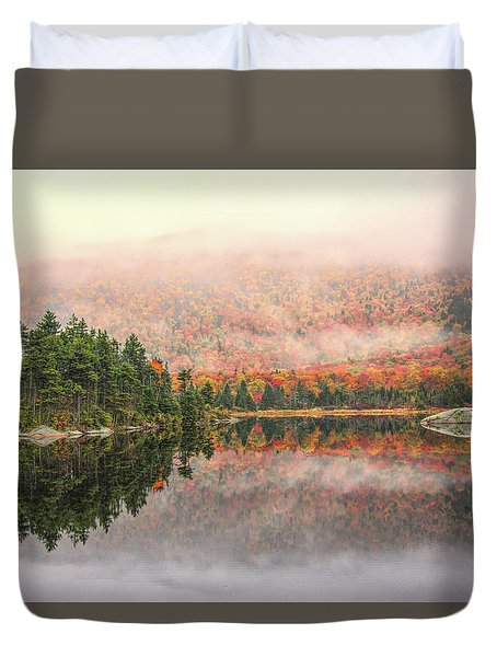 Beaver Pond New Hampshire Duvet Cover