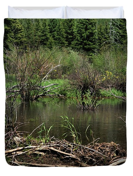 Duvet Cover featuring the photograph Beaver Pond by Ron Cline