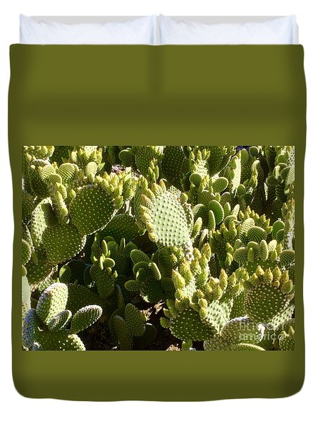 Beaver Tail Cactus, Cave Creek, Arizona Duvet Cover