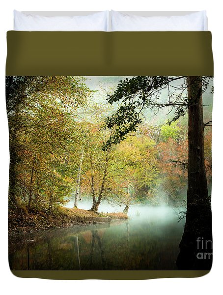 Beavers Bend Creek In Fall Duvet Cover by Iris Greenwell