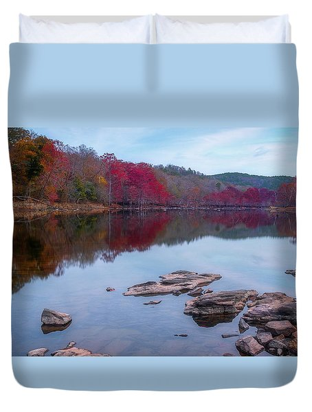 Duvet Cover featuring the photograph Beavers Bend State Park by Robert Bellomy