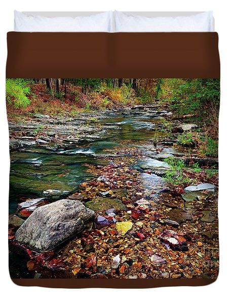 Beaver's Bend Tiny Stream Duvet Cover