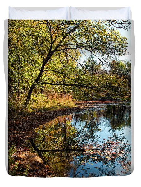 Beaver's Pond Duvet Cover by Iris Greenwell