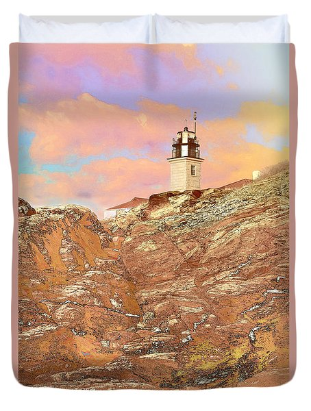 Beavertail Looking Surreal Duvet Cover