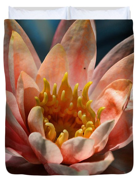 Beckoning The Sun Water Lily Duvet Cover