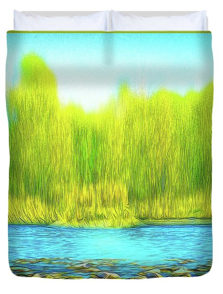 Beckoning Woods Duvet Cover