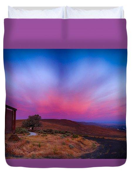 Beckys Sunrise Duvet Cover by Lynn Hopwood