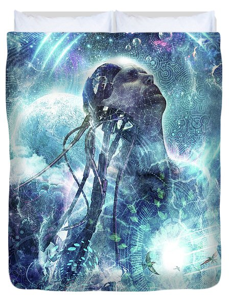 Become The Light Duvet Cover by Cameron Gray