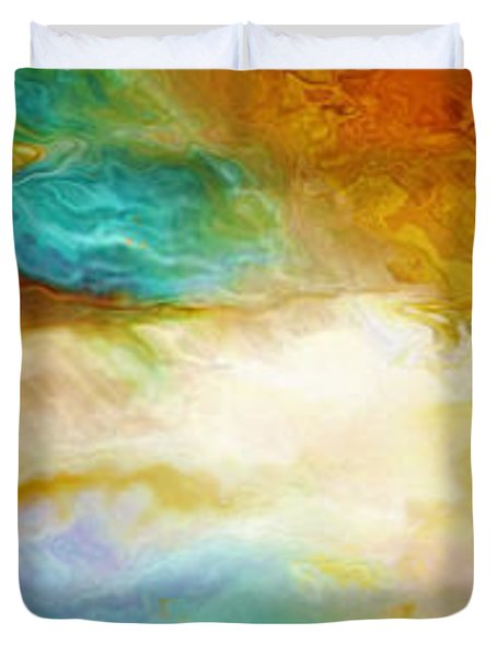Becoming - Abstract Art Duvet Cover