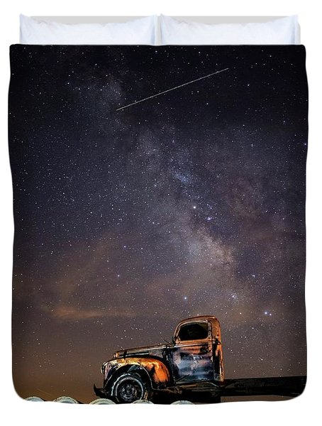 Sleeping Alone Under The Stars  Duvet Cover
