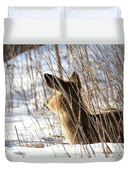 Bedded Fawn 2 Duvet Cover