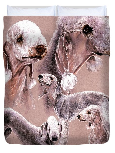 Bedlington Terrier Duvet Cover